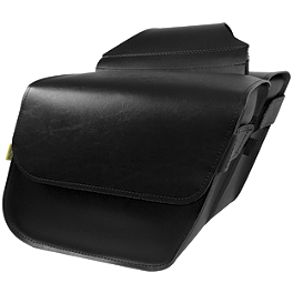 Willie & Max Raptor Slant Saddlebags - Compact - Willie & Max Black Label 2Up Tour Seat