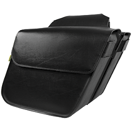 Willie & Max Raptor Slant Saddlebags - Standard - Willie & Max Black Magic Slant Saddlebags - Super