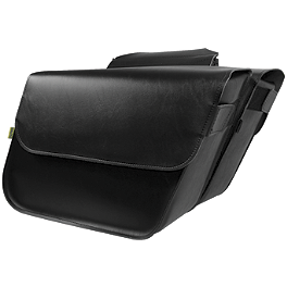 Willie & Max Raptor Slant Saddlebags - Super - Willie & Max Black Label 2Up Tour Seat