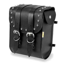 Willie & Max Ranger Studded Sissy Bar Bag - Willie & Max Black Magic Slant Saddlebags - Compact