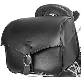 Willie & Max Revolution Trunk - Willie & Max Gray Thunder Braided Slant Saddlebags - Fleetside