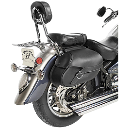Willie & Max Revolution Throwover Saddlebag - Belted - Willie & Max Revolution Hard Mount Standard Saddlebag