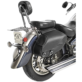 Willie & Max Revolution Throwover Saddlebag - Retro - Willie & Max Black Magic Slant Saddlebags - Compact
