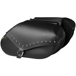 Willie & Max Revolution Throwover Saddlebag - Studded - Willie & Max Condor Slant Saddlebags - Compact