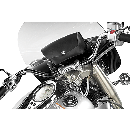 Willie & Max Revolution Windshield Bag - Yamaha Star Accessories Leather Windshield Bag - Black