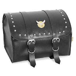 Willie & Max Studded Max Pax Tour Trunk - Willie & Max Condor Slant Saddlebags - Compact