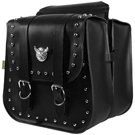 Willie & Max Studded Saddlebags - Standard - Willie & Max Black Label 2Up Tour Seat