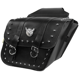 Willie & Max Studded Slant Saddlebags - Compact - Willie & Max Showstopper Master Cylinder Cover