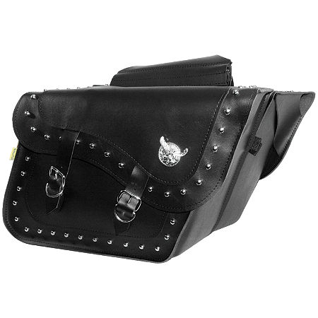 Willie & Max Studded Slant Saddlebags - Fleetside - Main