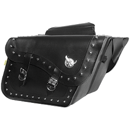 Willie & Max Studded Slant Saddlebags - Fleetside - Willie & Max Ranger Studded Slant Saddlebags