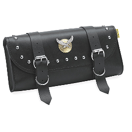 Willie & Max Studded Tool Pouch - Willie & Max Deluxe Slant Saddlebags - Compact