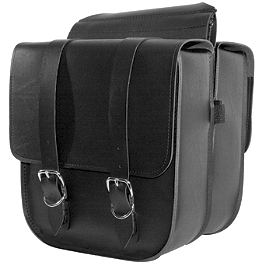 Willie & Max Standard Saddlebags - Willie & Max Black Jack Slant Saddlebags - Compact