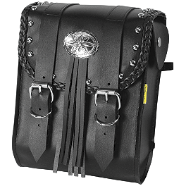 Willie & Max Warrior Sissy Bar Bag - Willie & Max Gray Thunder Studded Sissy Bar Bag