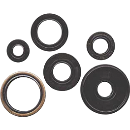 Winderosa Engine Oil Seal Kit - 2007 Yamaha GRIZZLY 700 4X4 Moose 387X Rear Wheel - 12X8 4B+4N Black