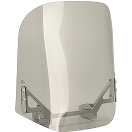"Wind Vest 14"" X 14"" Windshield - Tinted - 2008 Yamaha V Star 1100 Custom - XVS11 Yamaha Star Accessories Classic Deluxe Saddlebags - Plain"