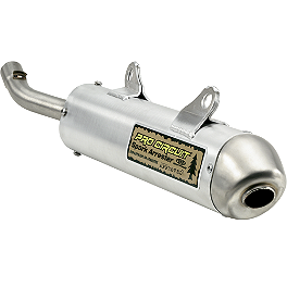 Pro Circuit Spark Arrestor Silencer - 2007 Kawasaki KX100 Pro Circuit Pipe And Silencer Combo