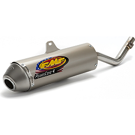 FMF Powercore 4 Slip-On Exhaust - 4-Stroke - 2005 Kawasaki KLX125 Baja EZ Mount Dual Sport Kit