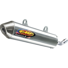 FMF Powercore 2 Silencer - 2-Stroke - FMF Fatty Pipe & Turbinecore 2 Spark Arrestor Silencer Combo