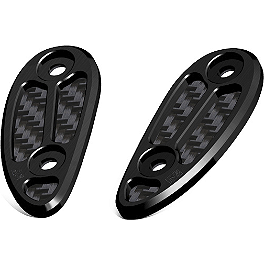 Yoshimura Mirror Hole Cap Kit - Vortex Mirror Caps - Black