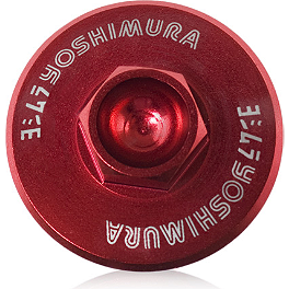 Yoshimura Oil Filler Plug - Red - 2007 Suzuki RMZ250 Yoshimura Large Engine Plug - Red