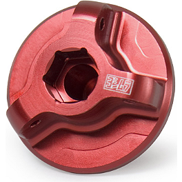 Yoshimura Oil Filler Plug - Red - 2012 Suzuki LTZ400 Yoshimura RS-2 Comp Series Slip-On Exhaust