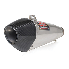 Yoshimura R-55 Full System Exhaust - Stainless Steel With Carbon Fiber End Cap - 2007 Suzuki GSX-R 600 Yoshimura Frame Sliders