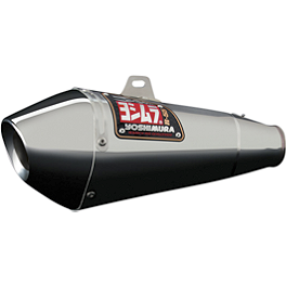 Yoshimura R-55 Slip-On Exhaust - Stainless Steel - 2007 Suzuki GSX-R 600 Yoshimura R-55 Full System Exhaust - Stainless Steel With Carbon Fiber End Cap