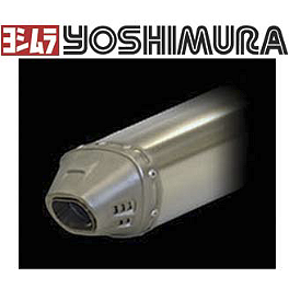 Yoshimura RS-5 Comp Series Full System Exhaust - 2009 Suzuki LT-R450 HMF Competition Complete Elliptical Exhaust - Black