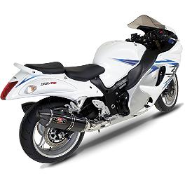Yoshimura R-77 Slip-On Exhaust - Carbon Fiber - 2011 Suzuki GSX1300R - Hayabusa Akrapovic Slip-On Exhaust - Carbon Fiber