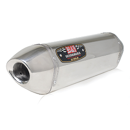 Yoshimura R-77 Slip-On Exhaust - Stainless Steel Single With Stainless End Cap - Yoshimura TRS Slip-On Exhaust - Stainless Steel Single Canister
