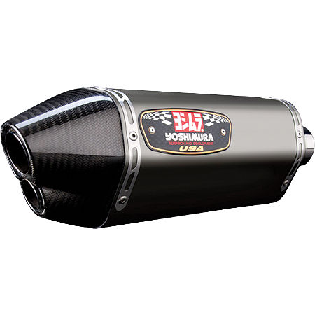 Yoshimura R-77D Dual Outlet Slip-On Exhaust - Titanium - Main