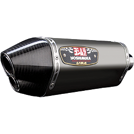 Yoshimura R-77D Dual Outlet Slip-On Exhaust - Titanium - Yoshimura R-77D Dual Outlet 3/4 System Exhaust - Stainless Steel With Carbon Fiber End Cap