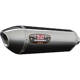 Yoshimura R-77 EPA Compliant Slip-On Exhaust - Stainless Steel With Stainless End Cap - Yoshimura R-77 EPA Compliant Slip-On Exhaust - Stainless Steel With Carbon Fiber End Cap