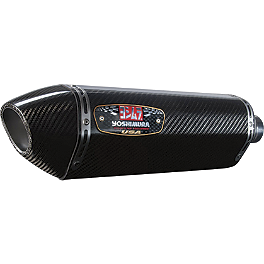Yoshimura R-77 Slip-On Exhaust - Carbon Fiber - 2010 Kawasaki ZR1000 - Z1000 Koso LCD Temperature Gauge