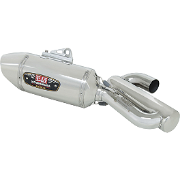 Yoshimura R-77 Slip-On Exhaust With Catalytic Converter - Stainless Steel - 2011 Honda CBR1000RR Yoshimura Axle Adjuster Blocks