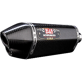 Yoshimura R-77D Dual Outlet Full System Exhaust - Carbon Fiber - Yoshimura R-77D Dual Outlet Full System Exhaust - Stainless Steel With Carbon Fiber End Cap