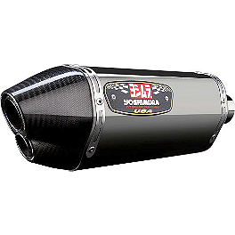Yoshimura R-77D Dual Outlet Full System Exhaust - Stainless Steel With Carbon Fiber End Cap - 2011 Suzuki GSX-R 600 Yoshimura R-77 Full System Exhaust - Carbon Fiber