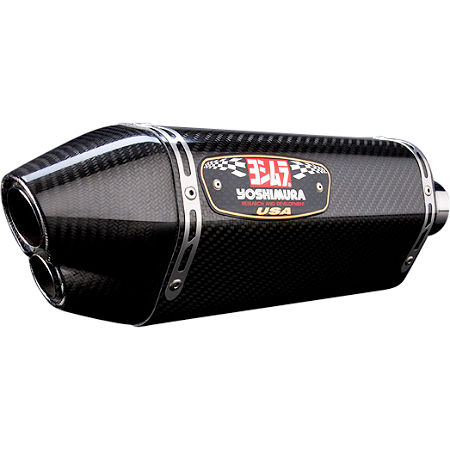 Yoshimura R-77D Dual Outlet Slip-On Exhaust - Carbon Fiber - Main