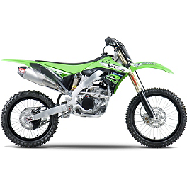 Yoshimura RS-4 Comp Series Full System Exhaust - Stainless/Aluminum - 2012 Kawasaki KX250F Yoshimura Steering Stem Nut - Red