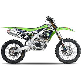 Yoshimura RS-4 Comp Series Full System Exhaust - Stainless/Aluminum - 2012 Kawasaki KX450F Yoshimura RS-4 Pro Series Full System Exhaust - Titanium/Carbon With Carbon Fiber End Cap