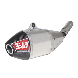 Yoshimura RS-4 Full System Exhaust - Stainless/Aluminum - 2010 Suzuki RMZ450 Yoshimura RS-4 Comp Series Slip-On Exhaust