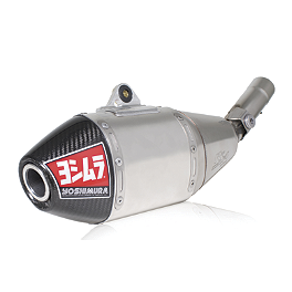 Yoshimura RS-4 Full System Exhaust - Stainless/Aluminum - 2010 Yamaha YZ450F Yoshimura RS-4 Comp Series Slip-On Exhaust