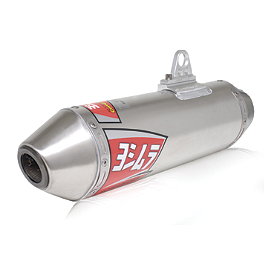 Yoshimura RS-2 Comp Series Slip-On Exhaust - 2012 Suzuki LTZ400 Yoshimura Engine Check Plug - Red