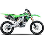 Yoshimura RS-4 Pro Series Full System Exhaust - Titanium/Carbon With Carbon Fiber End Cap - Kawasaki KX250 Dirt Bike Exhaust