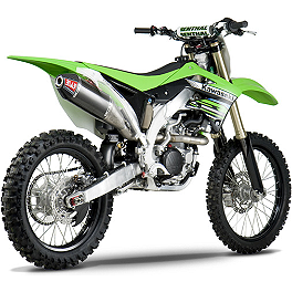 Yoshimura RS-4 Pro Series Full System Exhaust - Titanium/Carbon With Carbon Fiber End Cap - 2012 Kawasaki KX450F Yoshimura RS-4 Pro Series Full System Exhaust - Titanium/Carbon With Carbon Fiber End Cap