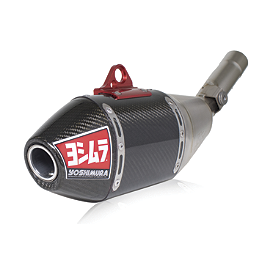 Yoshimura RS-4 Full System Exhaust - Titanium/Carbon Fiber - 2012 Yamaha YZ450F Yoshimura RS-4 Comp Series Slip-On Exhaust