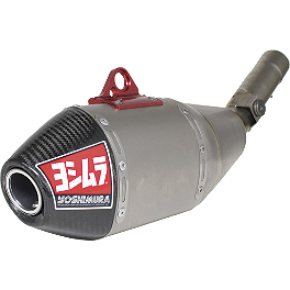 Yoshimura RS-4 Full System Exhaust - Titanium/Titanium - 2011 Honda CRF250R Alias Geico Team Graphics Kit - Honda