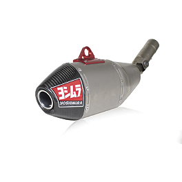 Yoshimura RS-4 Full System Exhaust - Titanium/Titanium - 2012 Yamaha YZ450F Yoshimura RS-4 Comp Series Slip-On Exhaust