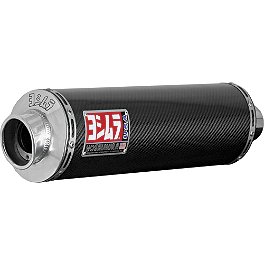Yoshimura RS-3 Slip-On Exhaust - Carbon Fiber - 2009 Suzuki SV650SF ABS Leo Vince SBK Oval Evo II Slip-On - Carbon Fiber