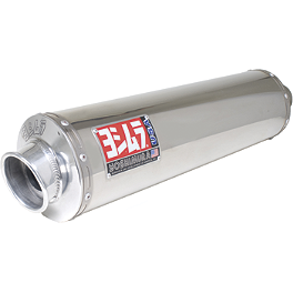 Yoshimura RS-3 Slip-On Exhaust - Polished Stainless Steel - Yoshimura TRS Slip-On Exhaust - Stainless Steel